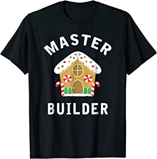 Master Builder Gingerbread House Funny Christmas T Shirt