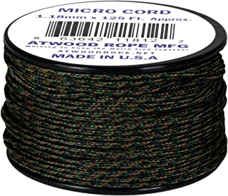 Woodland Camo MC04 1.18mm x 125' Micro Cord Paracord Made in the USA