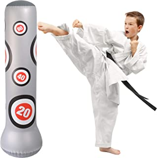 12th Round Sports | Heavy Duty Inflatable Fitness Punching Bag | Active Kids Will Love Staying Fit With this Freestanding Bag | Strong Enough For MMA, Karate or Kung Fu Training | Also Fun for Adults.