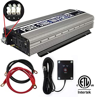 GoWISE Power PS1006 3000W Pure Sine Wave Power Inverter/Hardwire Terminal, 1 Pack