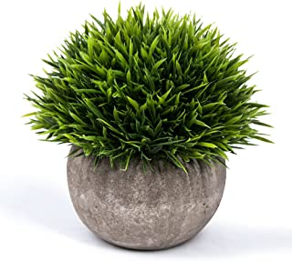 Mintime Small Fake Potted Plant for Bathroom/Home Decor, The Bloom Times Artificial Faux Greenery for House Decorations (Green)