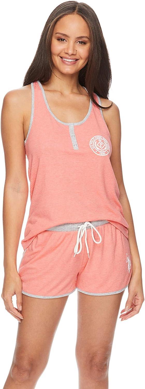 U.S. Polo Assn. Womens Racerback Tank Top and Pajama Lounge Shorts Sets