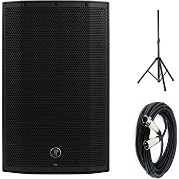 """Mackie Thump12A - 1300W 12"""" Powered Loudspeaker Bundle (Single) with Steel Speaker Stand and XLR-XLR Cable"""