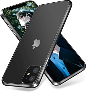 OTOFLY iPhone 11 Case, [Built-in Camera Protector] Premium Soft Silicone Rubber & Translucent Matte Hard PC Back Full-Body...