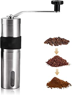 [UPGRADED] Manual Coffee Grinder – Hand Stainless Steel Grinder Coffee Mill – ZZROU STUDIO