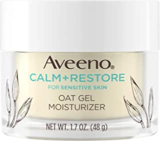 Sponsored Ad - Aveeno Calm + Restore Oat Gel Facial Moisturizer for Sensitive Skin, Lightweight Gel Cream Face Moisturizer...