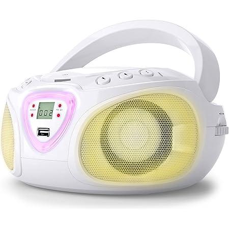 Muse M 28 Rdw Cd Radio Tragbar Pll Ukw Radio Mw Tuner Senderspeicher Usb Mp3 Wiedergabe Netz Oder Batteriebetrieb Weiß Audio Hifi