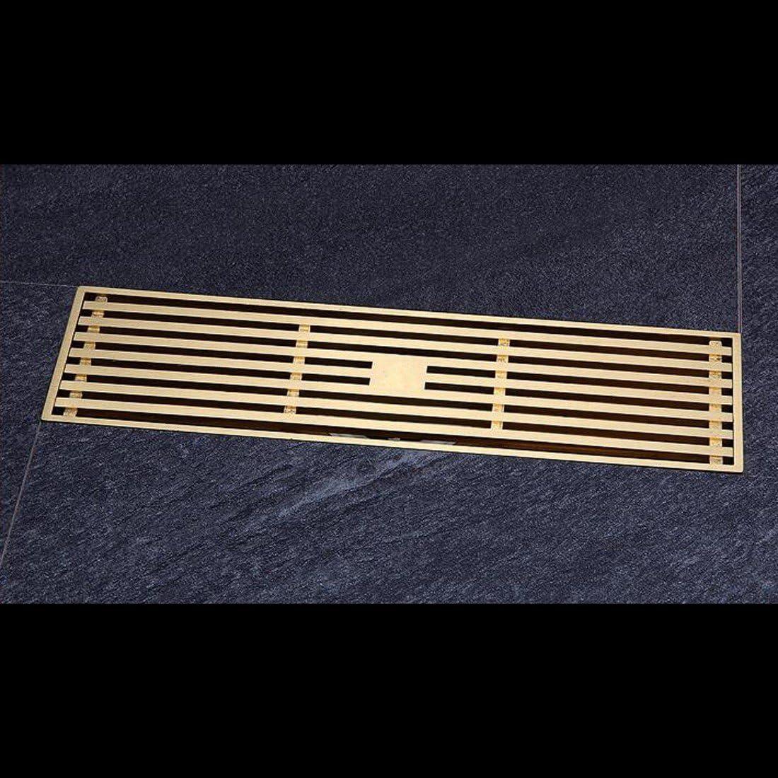 SJQKA Floor Drain Strip Rectangular Deodorant Shower Copper Fine Raleigh Mall Cheap bargain