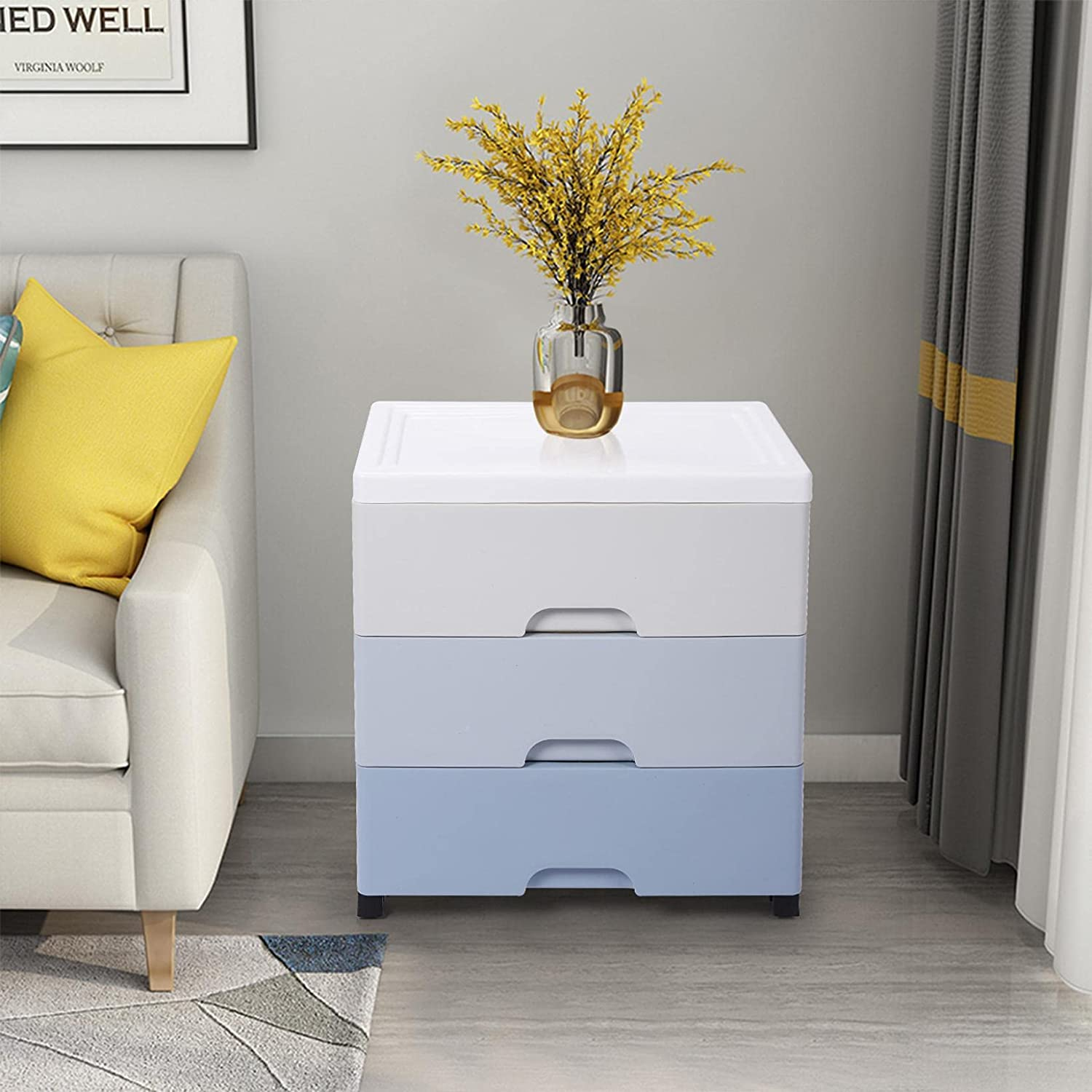 Max 68% OFF Dallas Mall Plastic Drawers Dresser with 3 for Storage Cabinet Makeu