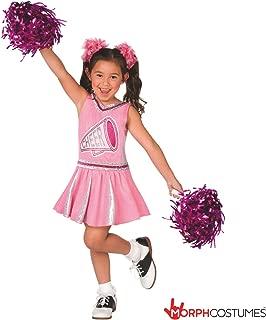 Girls Champion Cheerleader Pink Uniform Childrens Cheerleading Costume for Kids