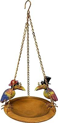 Continental Art Center Inc. CAC11490 Birdfeeder Hanging Bird Feeder, Brown