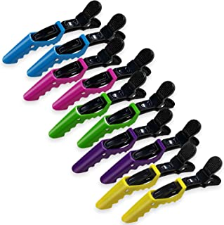 Hair Clips Plastic Durable Hair Salon Clamps with Non Slip Grip for Women and Girls 10 Packs