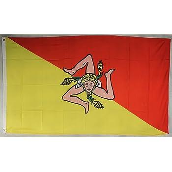 flaggen SIZILIEN Fahne 90 x 150 cm feiner Polyester AZ FLAG Flagge SIZILIEN 150x90cm