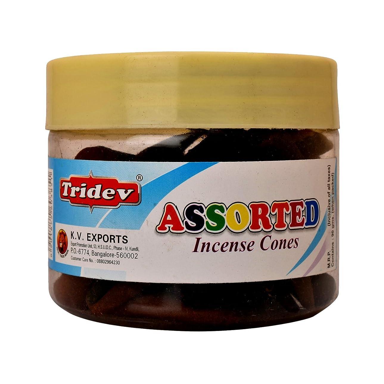 アーティファクト雄弁な時間Tridev Assorted Incense Cones Jar 90グラムパック