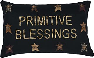 VHC Brands Pillows & Throws-Primitive Blessings Black 14