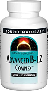 SOURCE NATURALS Advanced B-12 Complex 5 Mg Lozenge, 60 Count
