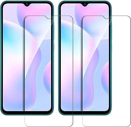 Tough Lee Tempered Glass for Mi Redmi 9 9A 9i Poco C3 Realme Narzo 20 Narzo 20A Oppo A5 2020 A9 2020 Transparent Full Screen Coverage Except Edges Pack of 2
