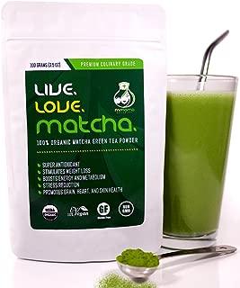 Matcha Green Tea Powder Organic, Perfect for Matcha Lattes, Smoothies, Baking, Premium Culinary Grade, 100gms (3.5oz)