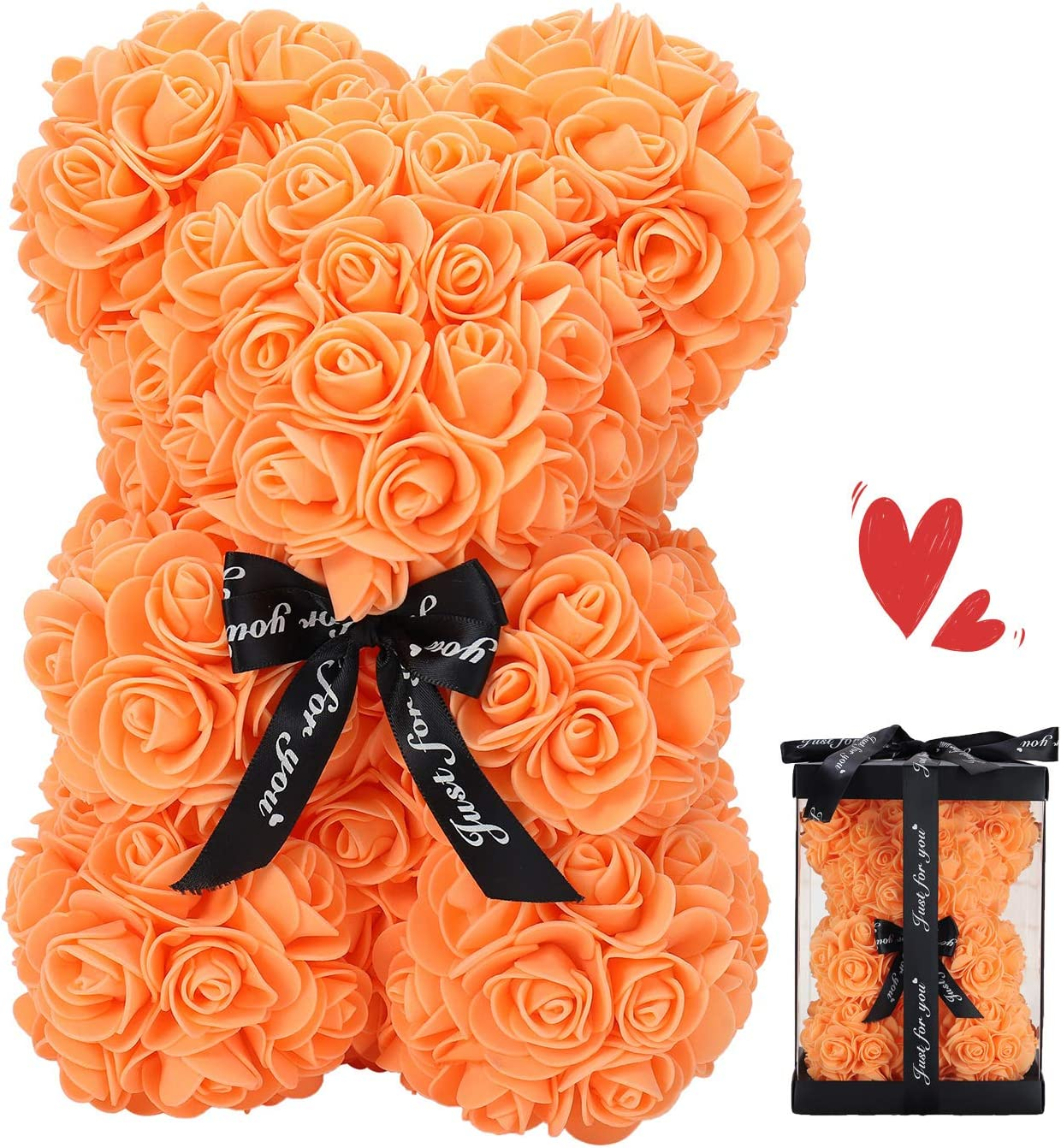 ZFDEBY Rose Bear Flower Made Philadelphia Mall Hand Best Dedication Teddy