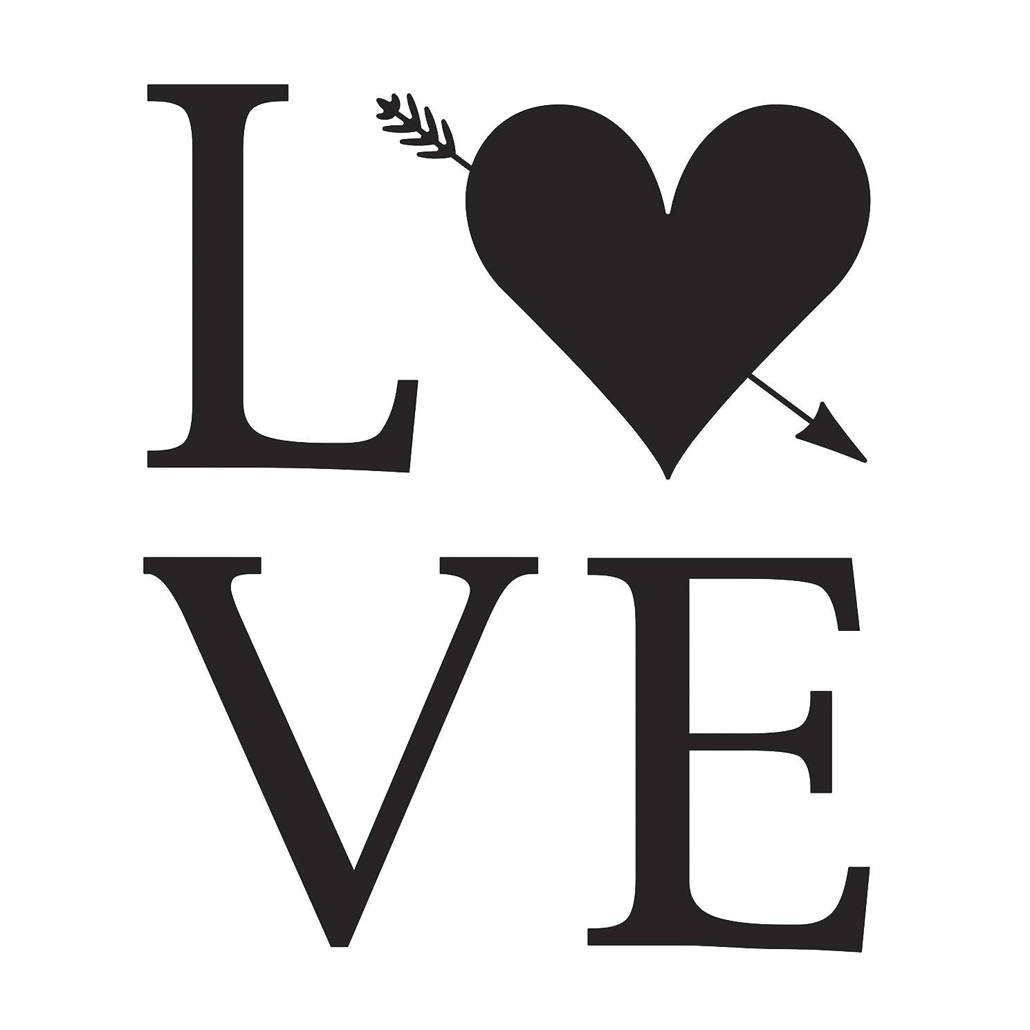 Darice Embossing Folder: Love, 4.25 x 5.75 inches