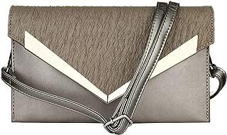 Envelope Clutch Purses for Women Evening and Wedding - 4-IN-1 Magnetic Closure Medium Envelope Wristlet with Shoulder Strap