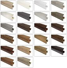 Plinten en accessoires - enorme keuze, geïntegreerde kabelgoot kunststof plinten PVC moderne laminaatstrips - 2 meter 65x2...