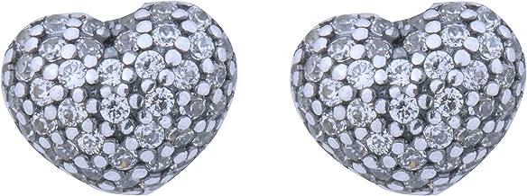 PANDORA 290541CZ In My Heart Stud Sterling Silver Earrings