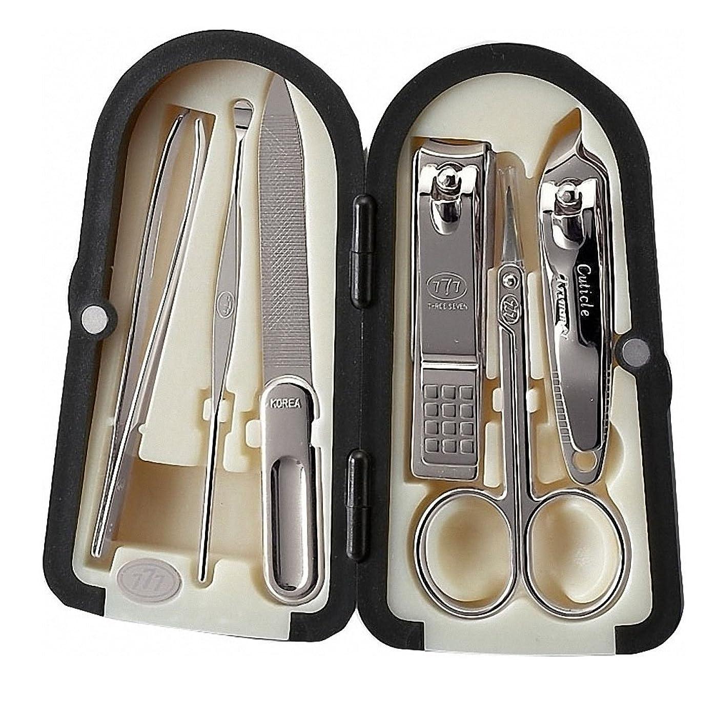 シャーパンダベット【 三セブン】THREE SEVEN TS-4000X Manicure Set with Three Color Case Choice 三セブンTS-4000Xマニキュアセット、3色ボックス選択 (1.Crome_Red) [並行輸入品]