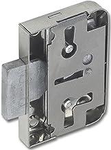 Meubelslot met eurosleutel, doornmaat 30 mm, staal vernikkeld, incl. sleutel, slotplaat en schroeven