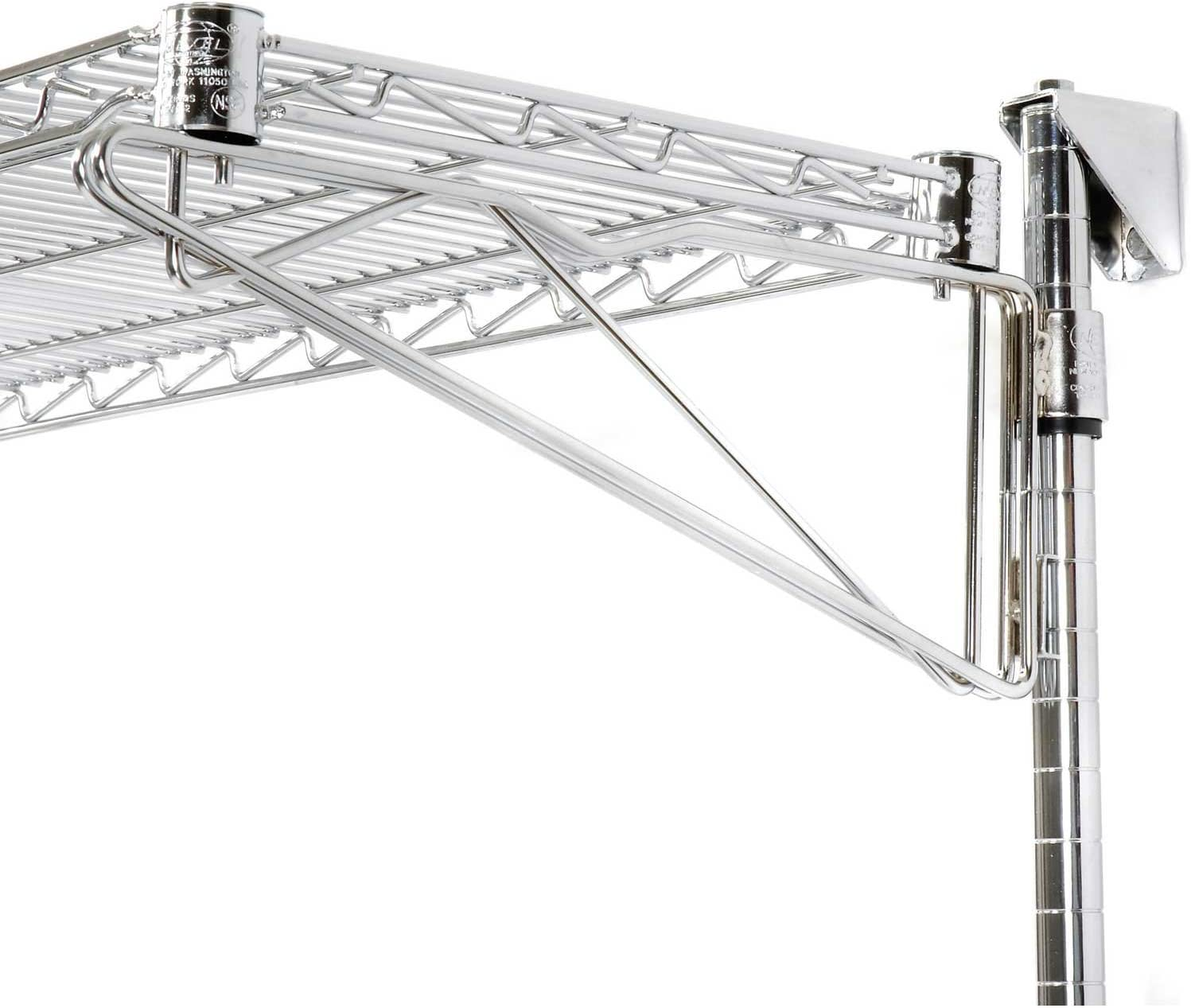 Nexel Additional Level for Wall Mount Baltimore Mall Wire Shelf Direct sale of manufacturer Chrome x 48