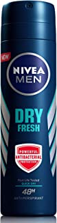 NIVEA MEN Dry Fresh, Antiperspirant for Men, Antibacterial Protection, Spray 150ml