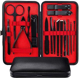DEHOT Manicura Set - 16 en 1 manicure kit acero inoxidable manicura y pedicura para mujeres y hombres profesional nail Cli...