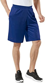 Men's HyperDri Cool Quick-Dry Active Lightweight Workout Performance Shorts (Pack of 1, 2)