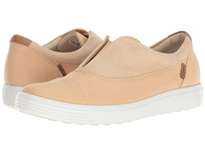 ECCO Soft 7 Slip-On II (Powder Cow Leather/Nubuck) Women