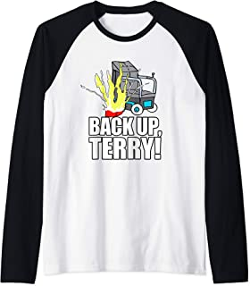 Back Up Terry Fireworks Funny Viral Trend Raglan Baseball Tee