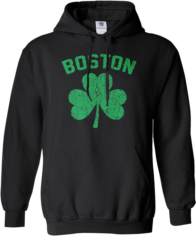 Threadrock Men's Green Boston Hoodie Ranking safety TOP2 Shamrock Sweatshirt