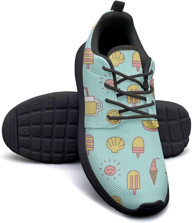 Gjsonmv Beach Heaven mesh Lightweight shoes for Women Cool Sports Bike Sneakers shoes