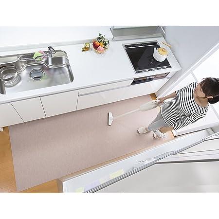 【日本製 撥水 消臭 洗える】サンコー キッチンマット ずれない 台所マット ロング 90×240cm ベージュ おくだけ吸着 KH-86