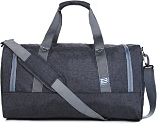 BAGSMART Travel Duffel Bag Large Weekender Bag Carry-on Luggage with Shoe Bag
