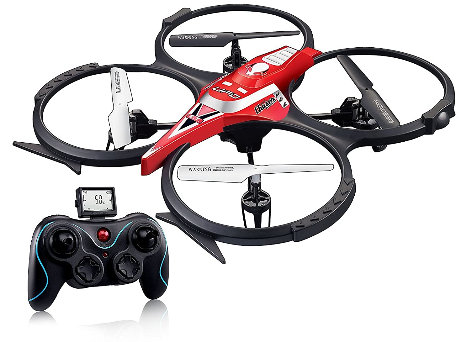 Holy Stone F182C 2.4GHz 4 Channel Remote Control Quadcopter with Camera, LCD Panel Display, 15.4 x 15.4 x 3.5 -Inch