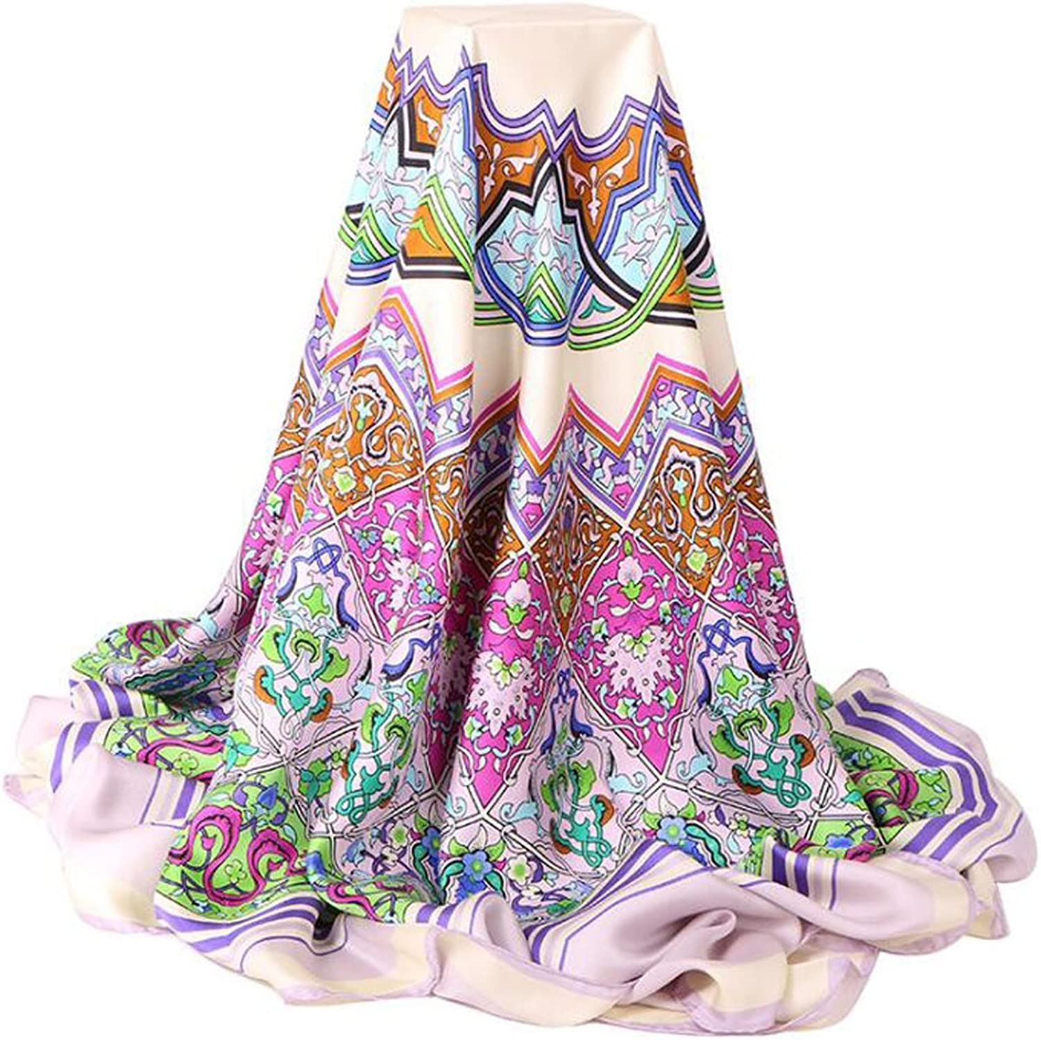 Ms. Fashion 100% Silk Scarves Spring And Summer Sun Scarf