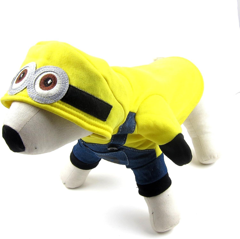 Alfie Pet  Wesley Minion Costume  color  Yellow, Size  XL