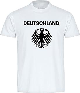 T-Shirt T-Shirt Deutschland Adler auf der Brust Trikot Herren weiß Gr. S-5XL - Fanshirt Fanartikel Fanshop Trikot Fußball EM WM Germany