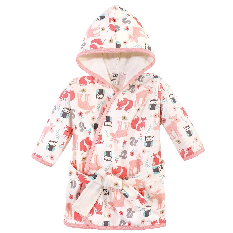 Hudson Baby Unisex Baby Cotton Rich Bathrobe, Girl Forest, 0-9 Months