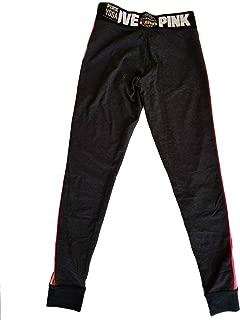 Victoria's Secret PINK Yoga Campus Legging Small Dark Gray Red