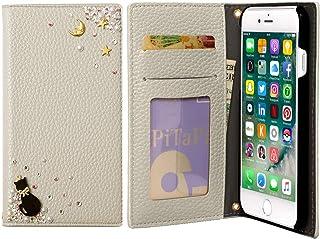 Xiaomi Redmi Note 9S ケース 手帳型 かわいい スター 猫 キラキラ マグネットなし カバー (グレー) SIMフリー