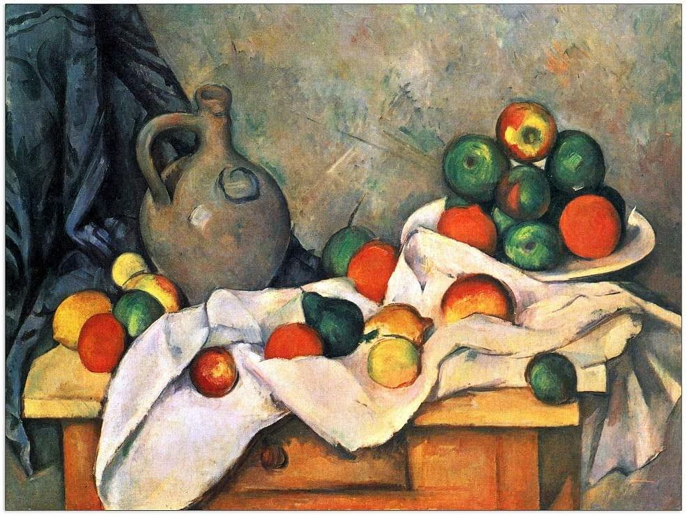 ArtPlaza Cezanne Paul - Still life drapery and Manufacturer regenerated product fruit pitcher b Max 72% OFF
