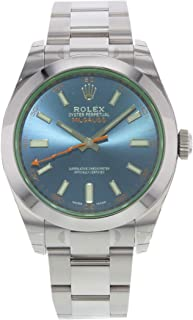 Milgauss Blue Dial Stainless Steel Mens Watch 116400GV