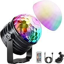 Luci Discoteca LED, OMERIL USB Alimentata Luci Discoteca con Luce d'atmosfera Modalità e 7 RGB Colori, Funzione Timer e Dimmerable, Musica Attivata Palla da Discoteca per Festa Xmas Regalo per Bambini