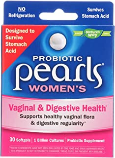 Nature's Way Probiotic Pearls, Once Daily Women's Probiotic Supplement, 1 Billion Live Cultures, Survives Stomach Acid, No Refrigeration, 30 Softgels, Pack of 2